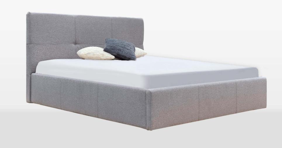 Кровать двуспальная с мягким изголовьем и подъемным механизмом Lily MiroMark