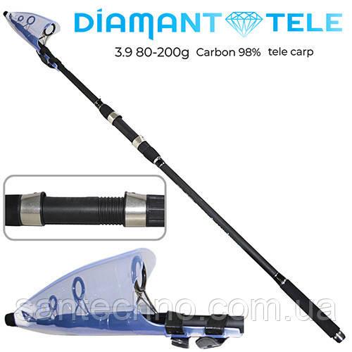 Спиннинг карповый телескопический SamsFish Diamant 3,9м (80-200гр)