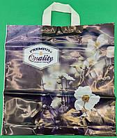 """Пакет с петлевой ручкой ср п ламинир.""""Кволити цветы 090"""" (40х40+3) 90мк КВС (50 шт)"""