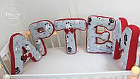 Буквы подушки в красном цвете 2896