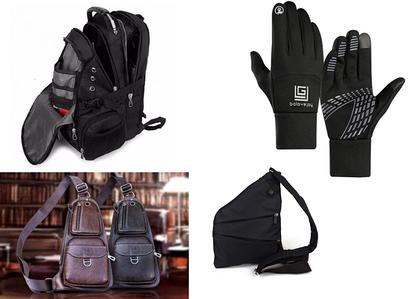 Рюкзаки / сумки / рукавички