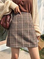 Женская шерстяная юбка в клетку, фото 1