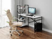 Комп'ютерний стіл Rimos Feel the Game - СПАРТАК, геймерський стіл Black-Red (VHX-001), фото 1