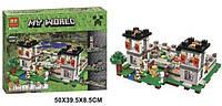 Большой конструктор Minecraft Bela 10472 Майнкрафт Крепость 990 деталей 6 фигурок 50х39,5х8,5см