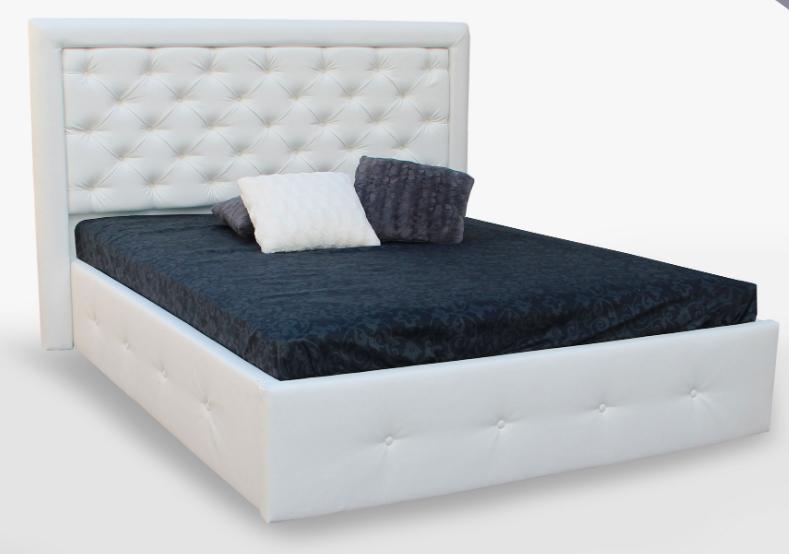 Кровать двуспальная с мягким изголовьем и подъемным механизмом Franko MiroMark