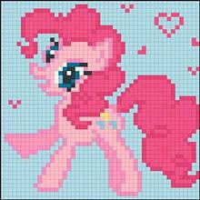 АМД-124. Алмазная мозаика для детей Розовая Пони. 12х12см