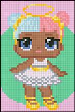 АМД-125.  Алмазная мозаика для девочек Кукла Ангел. 10х15см