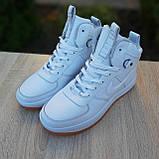 Женские кроссовки в стиле Nike Lunar Force 1 Duckboot белые, фото 2
