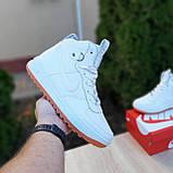 Женские кроссовки в стиле Nike Lunar Force 1 Duckboot белые, фото 3