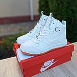 Женские кроссовки в стиле Nike Lunar Force 1 Duckboot белые, фото 5