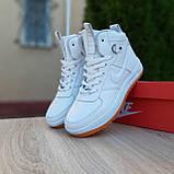 Женские кроссовки в стиле Nike Lunar Force 1 Duckboot белые, фото 6