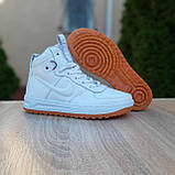 Женские кроссовки в стиле Nike Lunar Force 1 Duckboot белые, фото 7