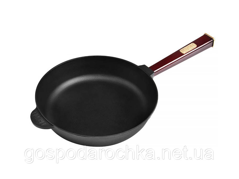 Сковорода с ручкой чугун Optima-Bordo 240 x 57 мм О2460-Р2 ТМ Brizoll