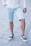 Мужские шорты бермуды Томми светло голубые