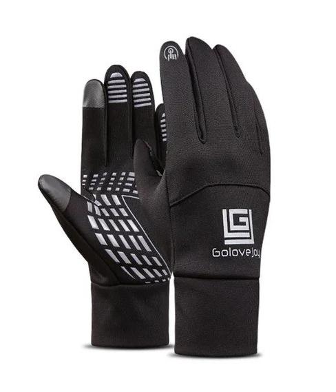 Чоловічі рукавиці еластичні Golovejoy сенсорні чорні водонепроникні рукавички