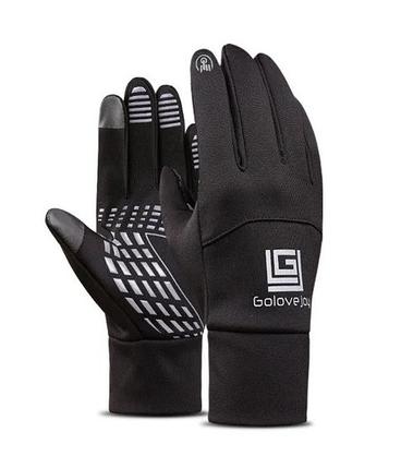 Чоловічі рукавиці еластичні Golovejoy сенсорні чорні водонепроникні рукавички, фото 2