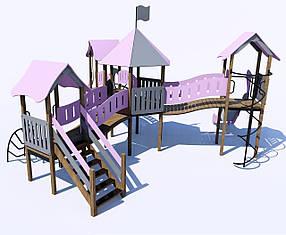 Дитячий ігровий комплекс від 7 до 12 років (Шестигранна майданчик) ІК-6.46