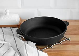 Сковорода чугунная без крышки, жаровня, 260х60 мм ТМ Brizoll, фото 3