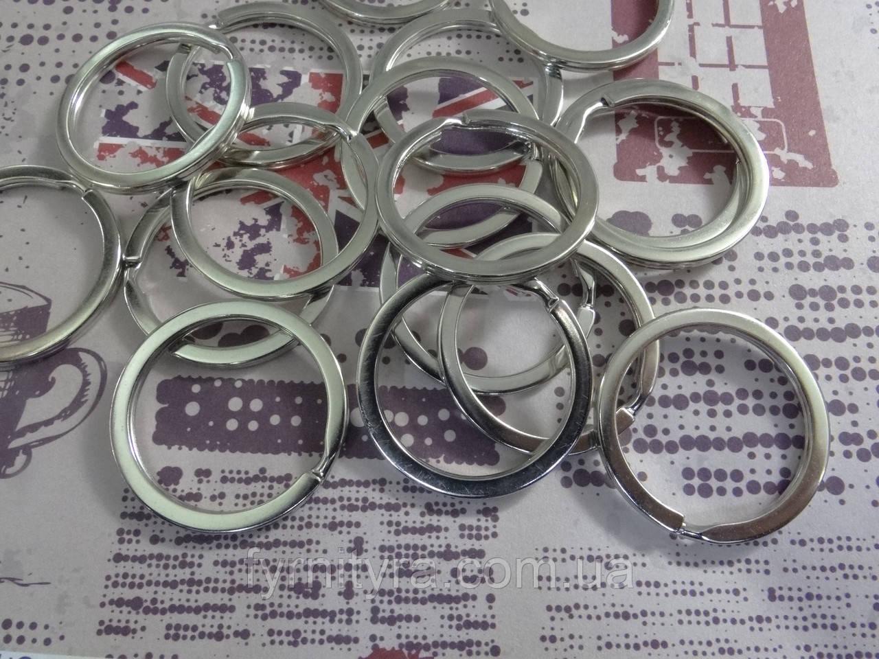 Кольцо витое ключное 24мм качество серебро