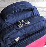 Школьный рюкзак анатомический с пеналом и светоотражателями для девочки 1 - 2 - 3 класс, сине-розовый портфель, фото 8