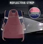 Школьный рюкзак анатомический с пеналом и светоотражателями для девочки 1 - 2 - 3 класс, сине-розовый портфель, фото 5