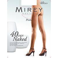 Прозрачные шелковистые колготки Mirey Naked 40den nak40 4, Черный