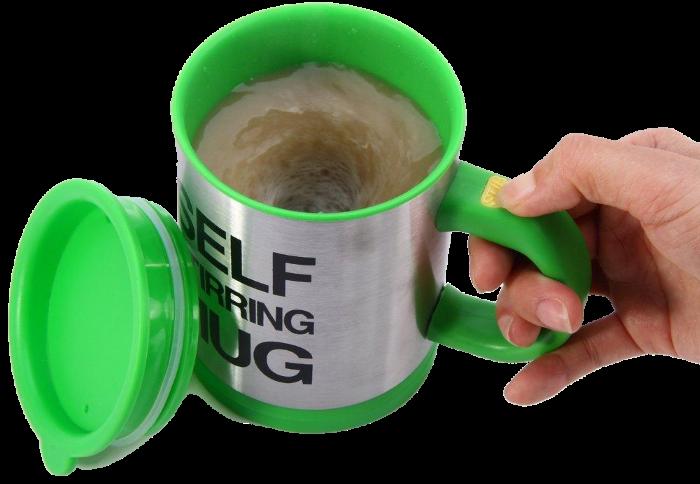 Кружка мешалка SELF STIRRING MUG - чашка мешалка зеленая