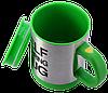 Кружка мешалка SELF STIRRING MUG - чашка мешалка зеленая, фото 4