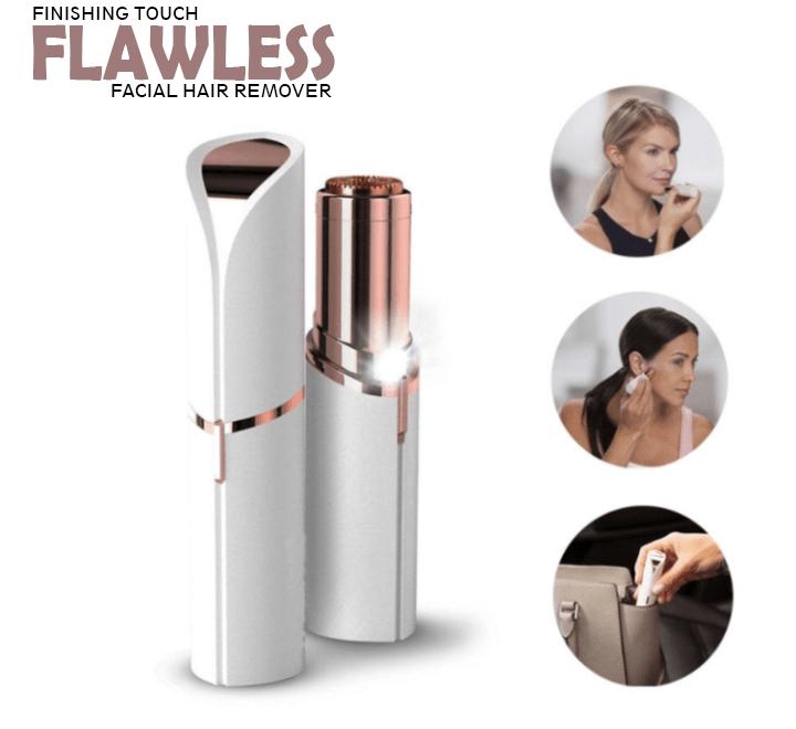Эпилятор для удаления волос на лице Flawless Facial Hair Remover - женский триммер депилятор в форме помады