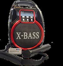 Колонка Golon RX 820 с микрофоном - портативная Bluetooth колонка с радио и светомузыкой, фото 2