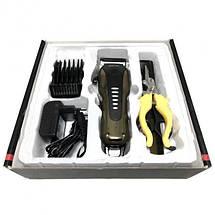 Машинка для стрижки животных GM-6063 - Профессиональная беспроводная машинка для груминга + 4 насадки, фото 3