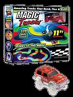 Гоночный трек Magic Tracks 220 деталей - Детский светящийся гибкий автотрек