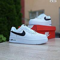 Женские кроссовки в стиле Nike Air Force 1 белые с черным