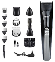 Профессиональная машинка для стрижки Kemei KM 600 11 в 1 - Беспроводная машинка, триммер для волос, бритва, фото 2