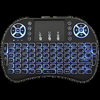 Беспроводная мини клавиатура KEYBOARD MWK08/i8 LED с тачпадом и подсветкой