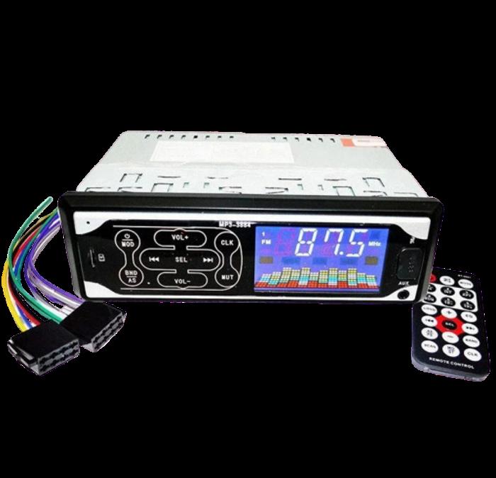 Автомагнитола Pioneer 3884 ISO 1DIN - MP3 Player, FM, USB, SD, AUX сенсорная автомобильная магнитола
