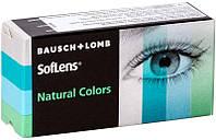 Цветные контактные линзы на 3 месяцаЦветные контактные линзы Soflens Natural Colors, (2шт), Bausch&Lomb