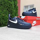 Женские  кроссовки в стиле Nike Air Force LV8 чёрные с белым, фото 3