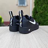 Женские  кроссовки в стиле Nike Air Force LV8 чёрные с белым, фото 4