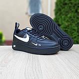 Женские  кроссовки в стиле Nike Air Force LV8 чёрные с белым, фото 8