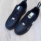 Женские  кроссовки в стиле Nike Air Force LV8 чёрные с белым, фото 9