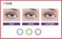 Цветные контактные линзы Adria Festival 1 tone на 3 месяца, Контактні лінзи , (2шт), Interojo
