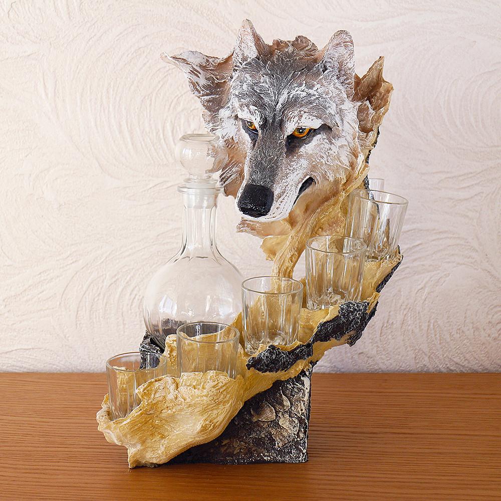Штоф волк 37 см