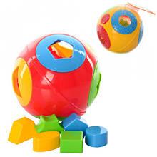 """Іграшка """"Розумний малюк Куля 1 ТехноК"""" геометрические фигуры арт 2247."""