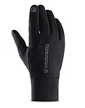 Мужские эластичные перчатки Golovejoy сенсорные черные водонепроницаемые перчатки, фото 3