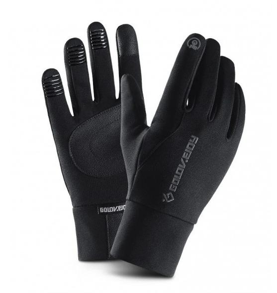 Мужские эластичные перчатки Golovejoy сенсорные черные водонепроницаемые перчатки