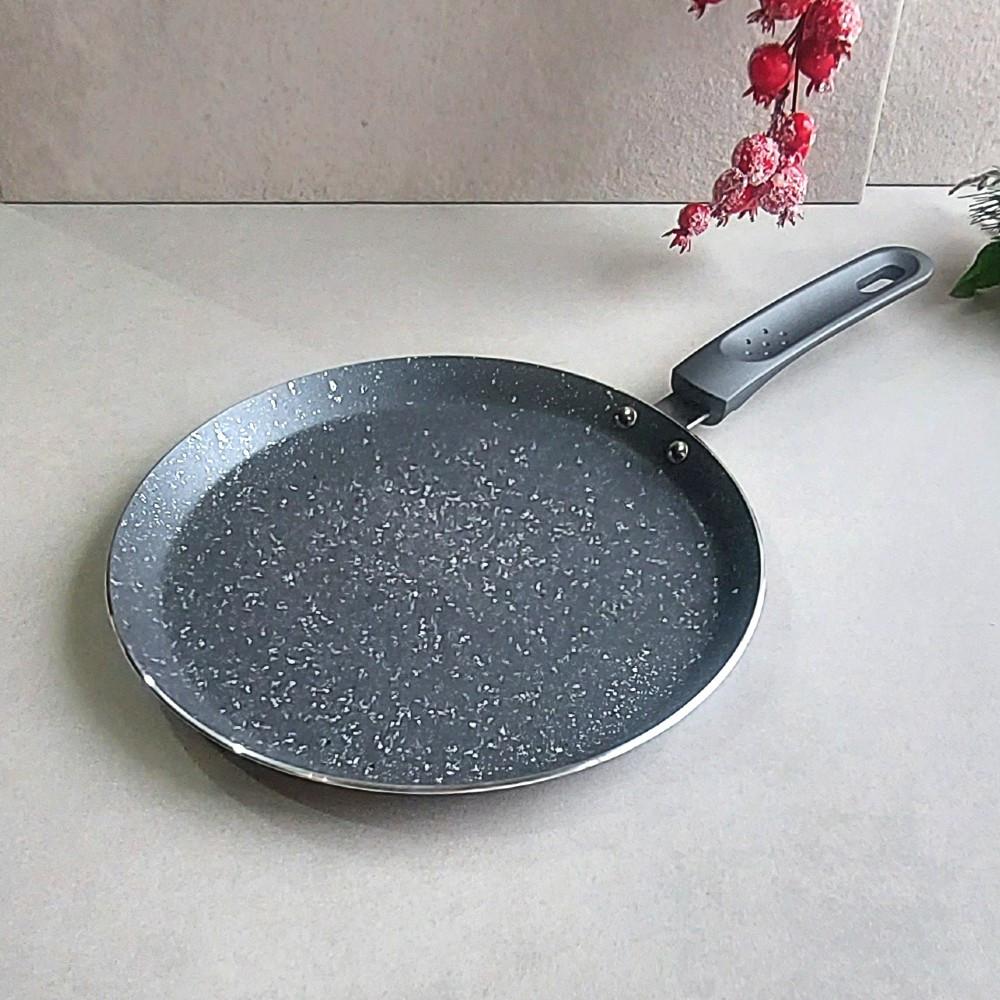 Сковорода для блинчиков Kamille 24 см с мраморным покрытием для индукции