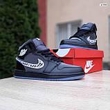 Женские кроссовки в стиле Jordan 1 Retro High Dior черные, фото 3
