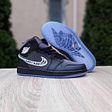 Женские кроссовки в стиле Jordan 1 Retro High Dior черные, фото 5