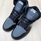 Женские кроссовки в стиле Jordan 1 Retro High Dior черные, фото 8